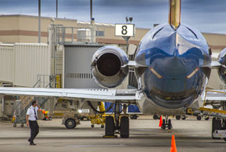 Allegiant jet parking on ramp at CIRA airport