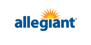Allegiant logo. Links to Allegiant.com