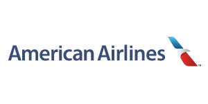 American Airlines logo. Links to AA.com