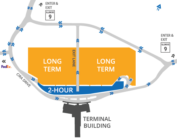 Map of the CIRA parking lots