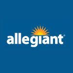 Allegiant logo on a blue background