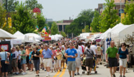 Crowds at the Sugar Creek Arts Festival